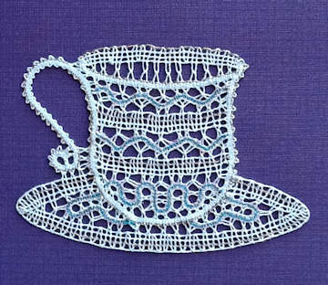 CUP and SAUCER Pattern design-I_Pervanja-Lacemaker-A_Marguccio