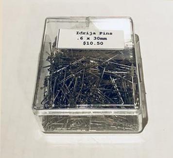 Idrija Lace Pins 0.6x30mm